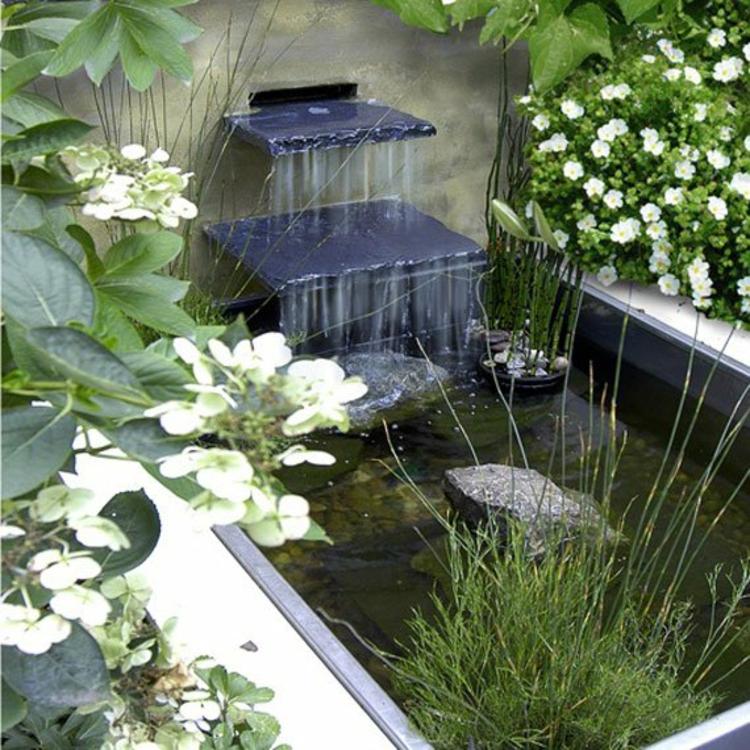 gartenteich bilder japanischer garten ideen wasserquelle garten - Gartenteich Ideen