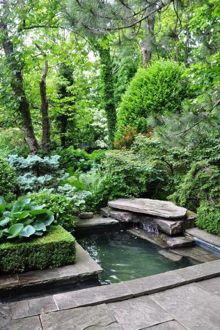 Gartenteich Bilder kreative Gartenideen Stein Gartenteiche