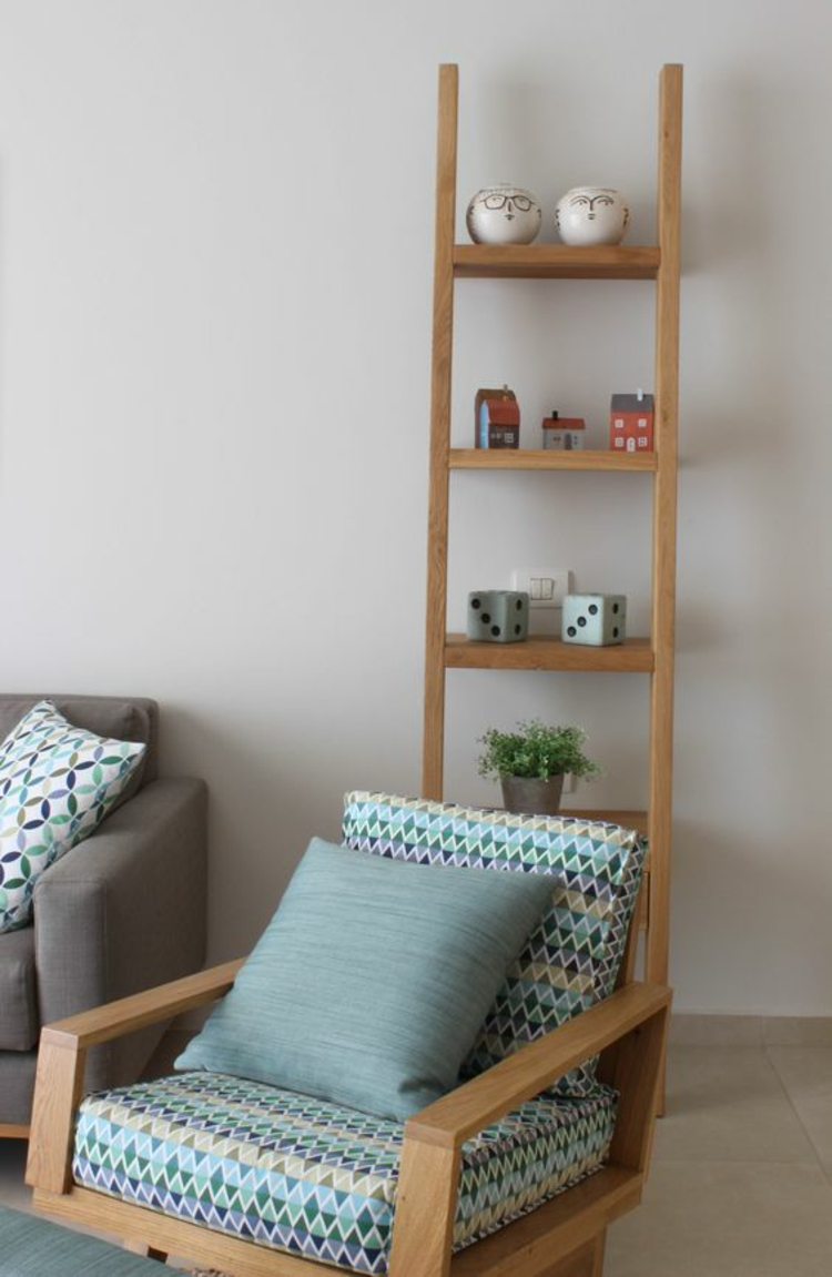 Holzleiter Wohnzimmermöbel Holz Sessel Lieter Holz Regal