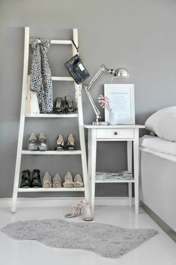 diy projekte mit holzleiter 20 inspirierende bilder und. Black Bedroom Furniture Sets. Home Design Ideas