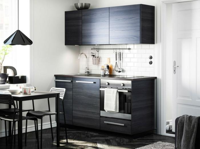 Küchenplanung Ikea Küchen creme baige hell schwarz holz