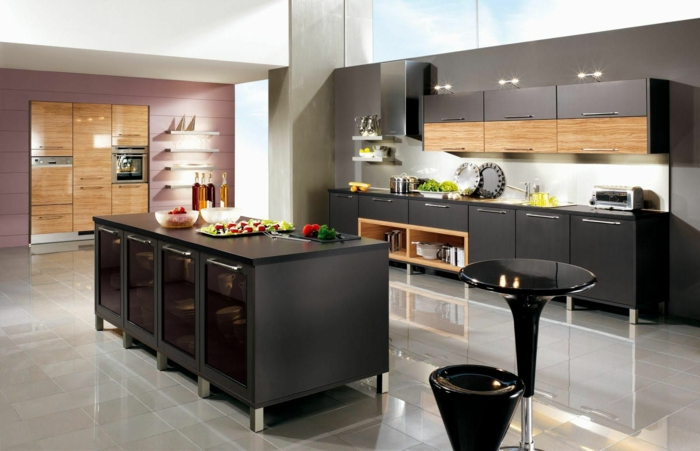 Küchenplanung Ikea Küchen creme baige hell schwarz