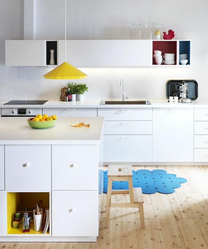 Küchenplanung Ikea Küchen holz weiss moderngelb