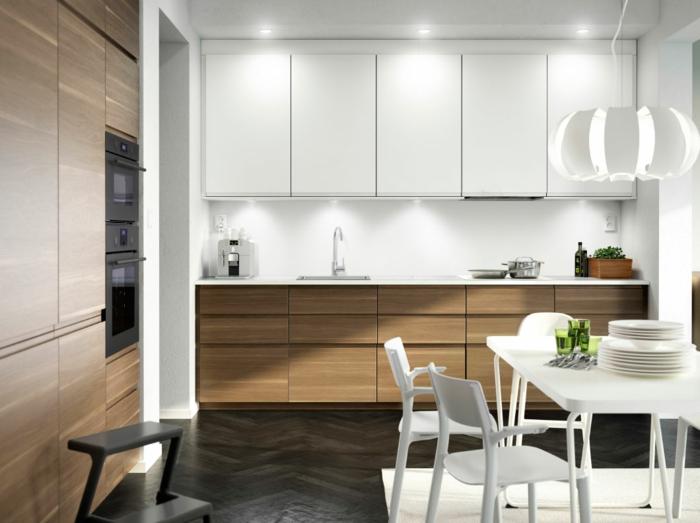 Küchenplanung Ikea Küchen holz weiss modern glatt