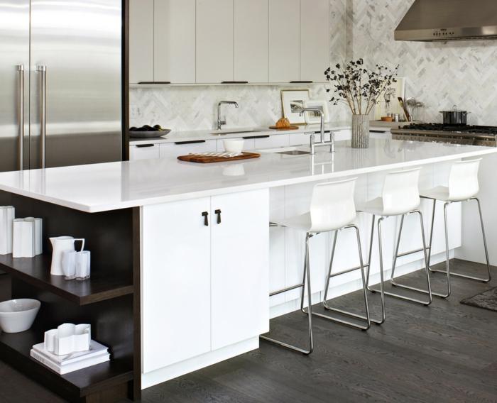 Küchenplanung Ikea Küchen holz weiss modern organisch weiss