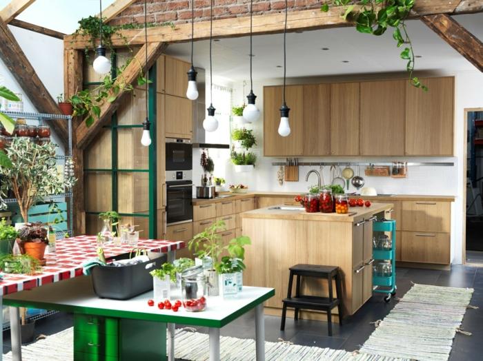 Küchenplanung Ikea Küchen holz weiss modern organisch