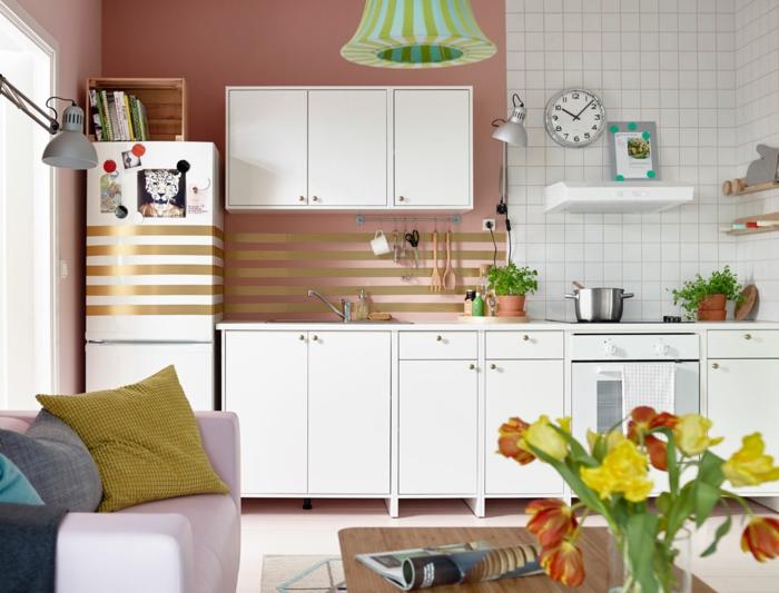 Küchenplanung Ikea Küchen holz weiss modern