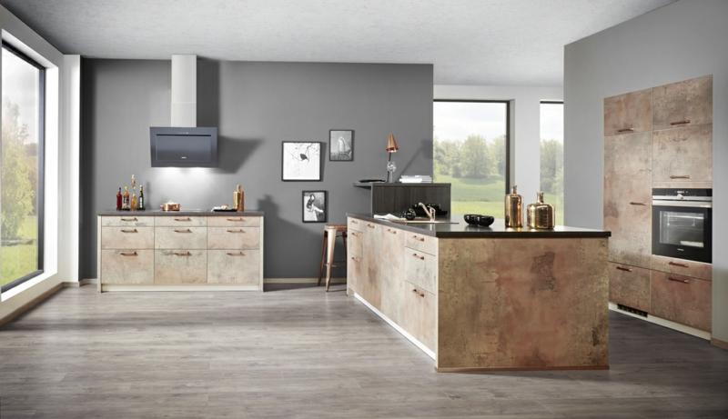Küchentrends Kücheninsel Küchengestaltung Kupferkueche