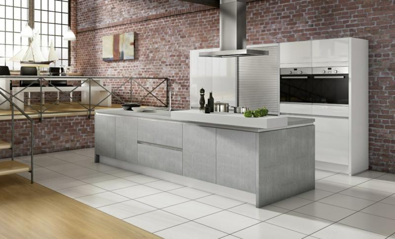 Küchentrends Stein Beton und Metall Kücheninsel Beton Küchengestaltung