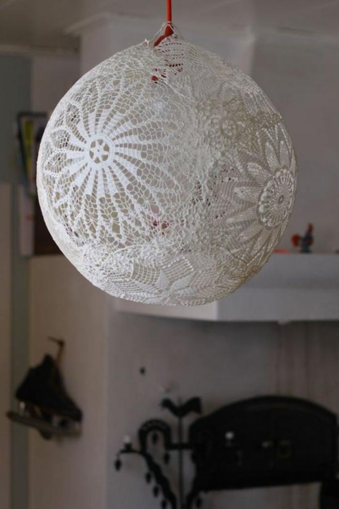Lampen selber machen DIY Lampen Lampenschirm basteln gehäckelt