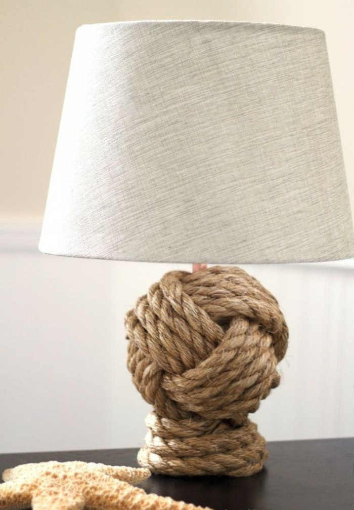 Lampen selber machen DIY Lampen Seil Lampenständer