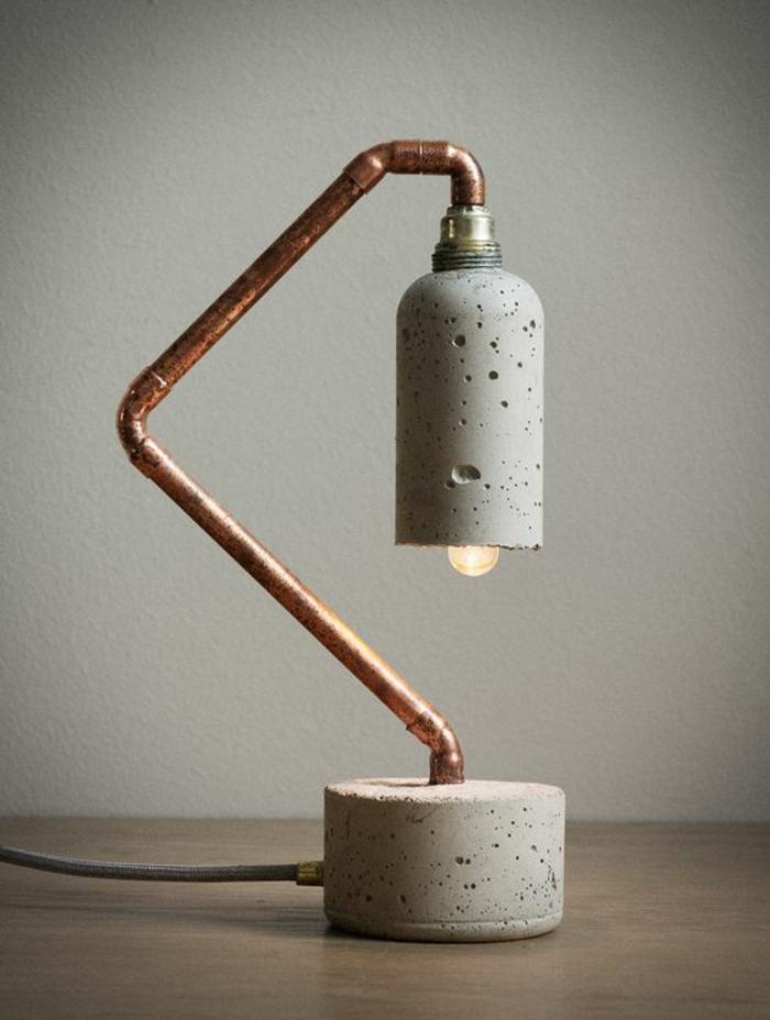 Lampen selber machen DIY Lampen aus Beton und Röhren
