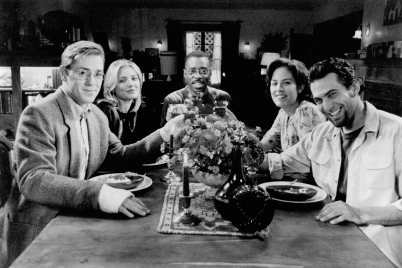 Schauspielerin Cameron Diaz Filmethe last supper 1999 schwarz weiß