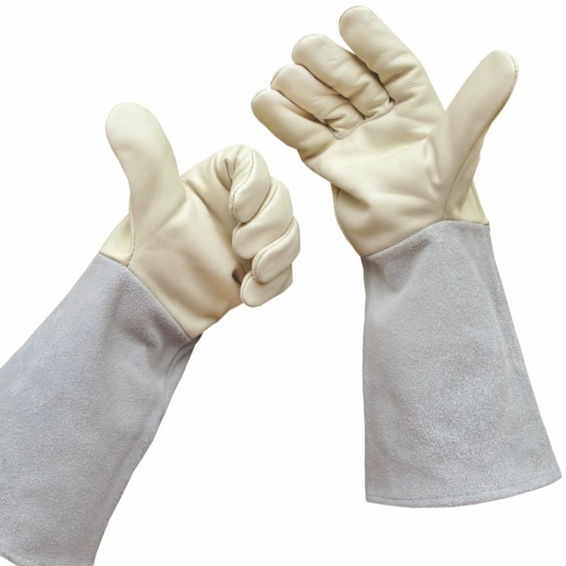 Schutzkleidung Gartenarbeit Schutzhandschuhe weiß