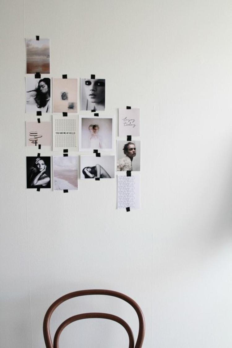 Ideen für Fotowand Wohnzimmer Wände dekorieren