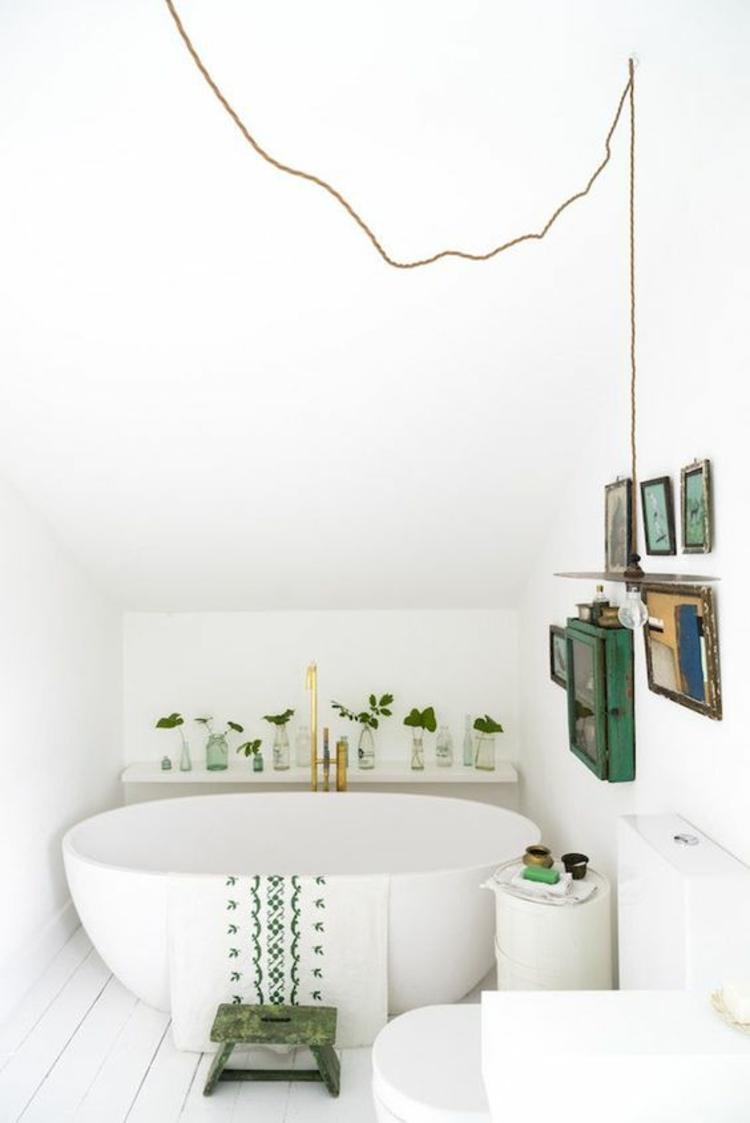 Wohntrends 2016 Frühlingshafte Badezimmer Dekoration Grün Zimmerpflanzen