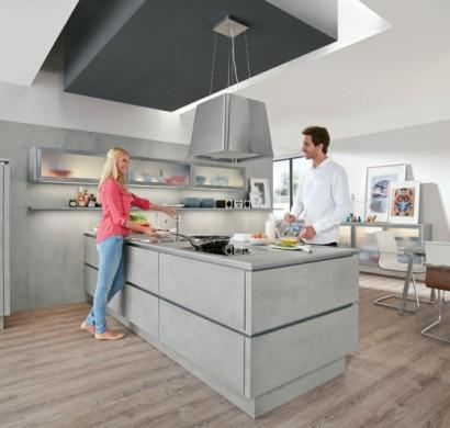 k chengestaltung k chentrends stein beton und metall. Black Bedroom Furniture Sets. Home Design Ideas