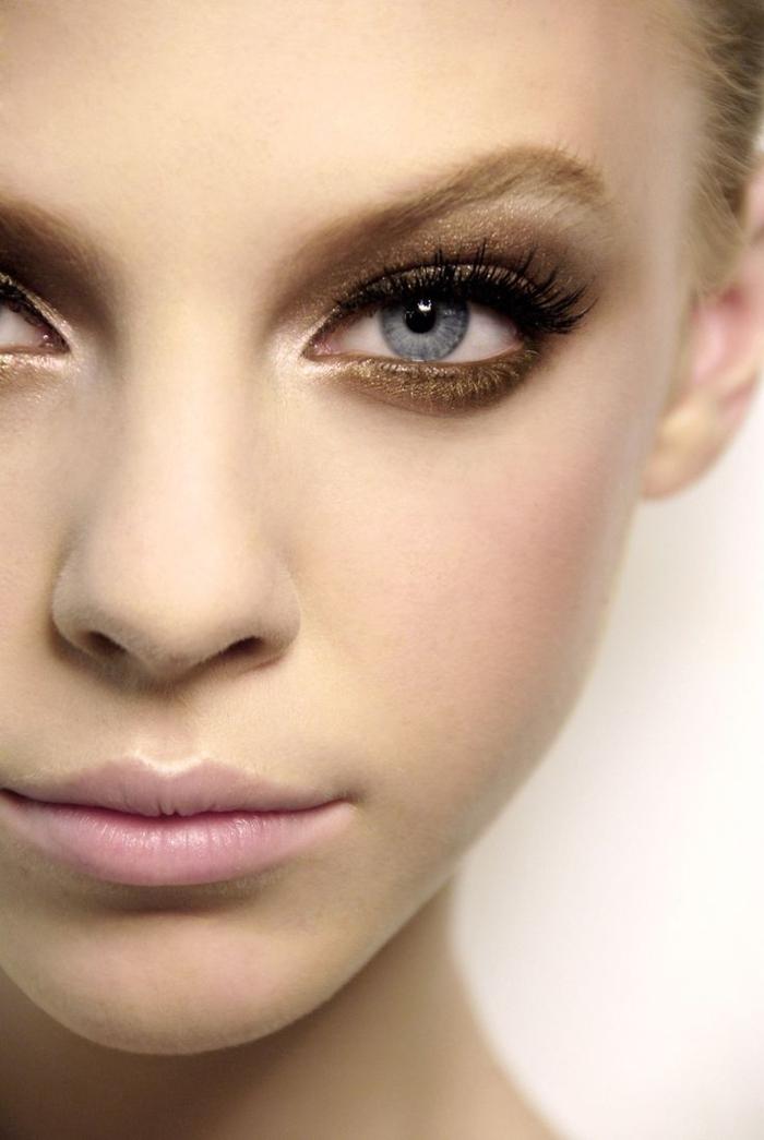 augen schminken bronzefarbe schminktipps