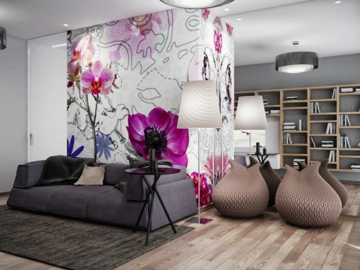 ausgefallene tapeten lassen zimmer charaktervoll erscheinen. Black Bedroom Furniture Sets. Home Design Ideas