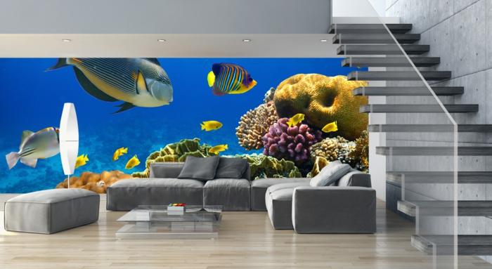 graue tapeten wohnzimmer ? reiquest.com - Tapeten Wohnzimmer Modern Grau