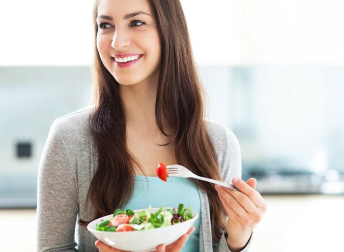 ausgewogene ernährung gute nahrung positive ausstrahlung