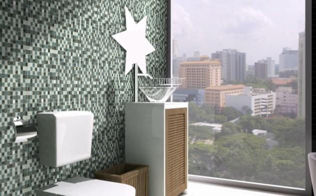 badezimmerfliesen-mosaikfliesen-grünnuancen-panoramafenster