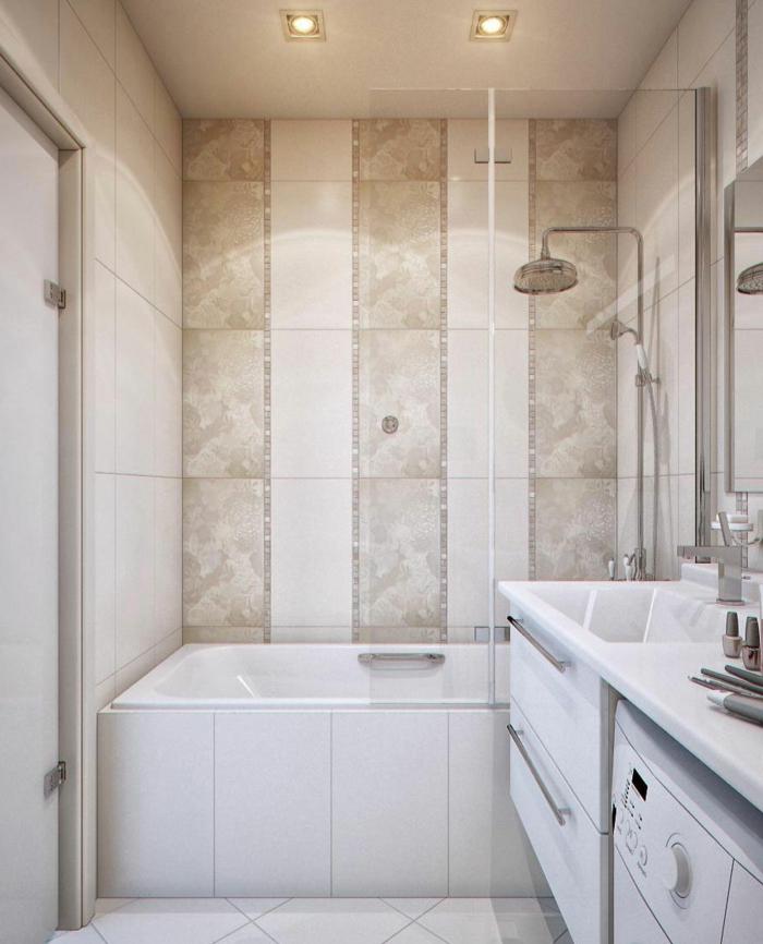 badezimmerfliesen streifen badewanne helles innendesign