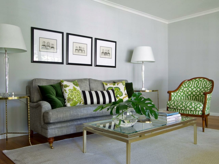 bequeme sessel farbiges design grüne elemente retro akzente