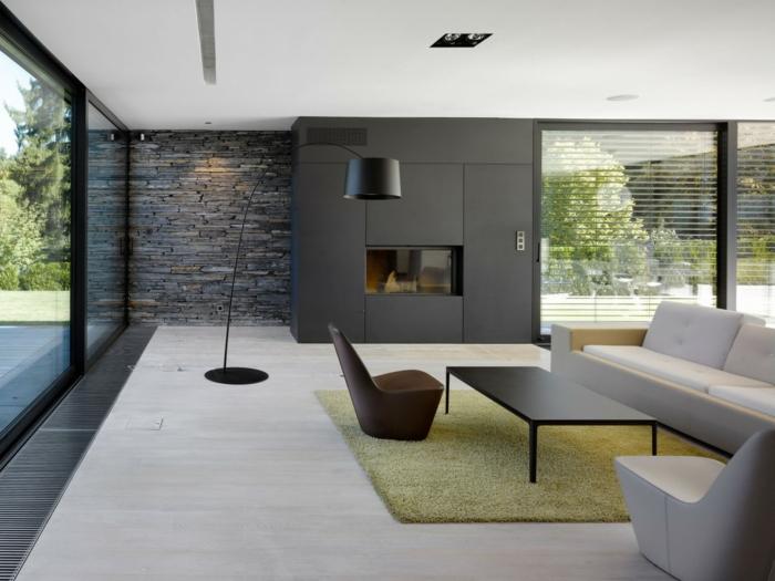 Wohnzimmer Blaue Wand Tuerkise Vorhaenge Frische Farbe Im Raum Schlafzimmer Design