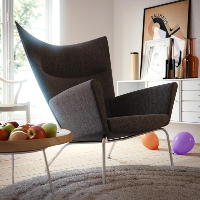 40 wohnzimmer sessel mit coolem look die sich im raum for Runder sessel