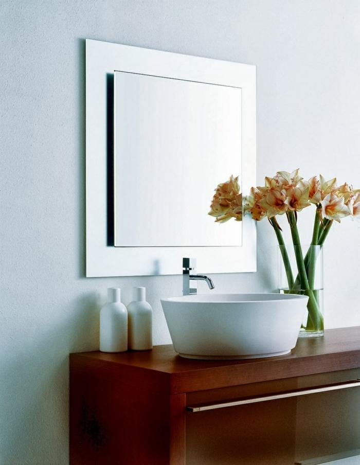 blumen tischdeko badezimmer dekorieren