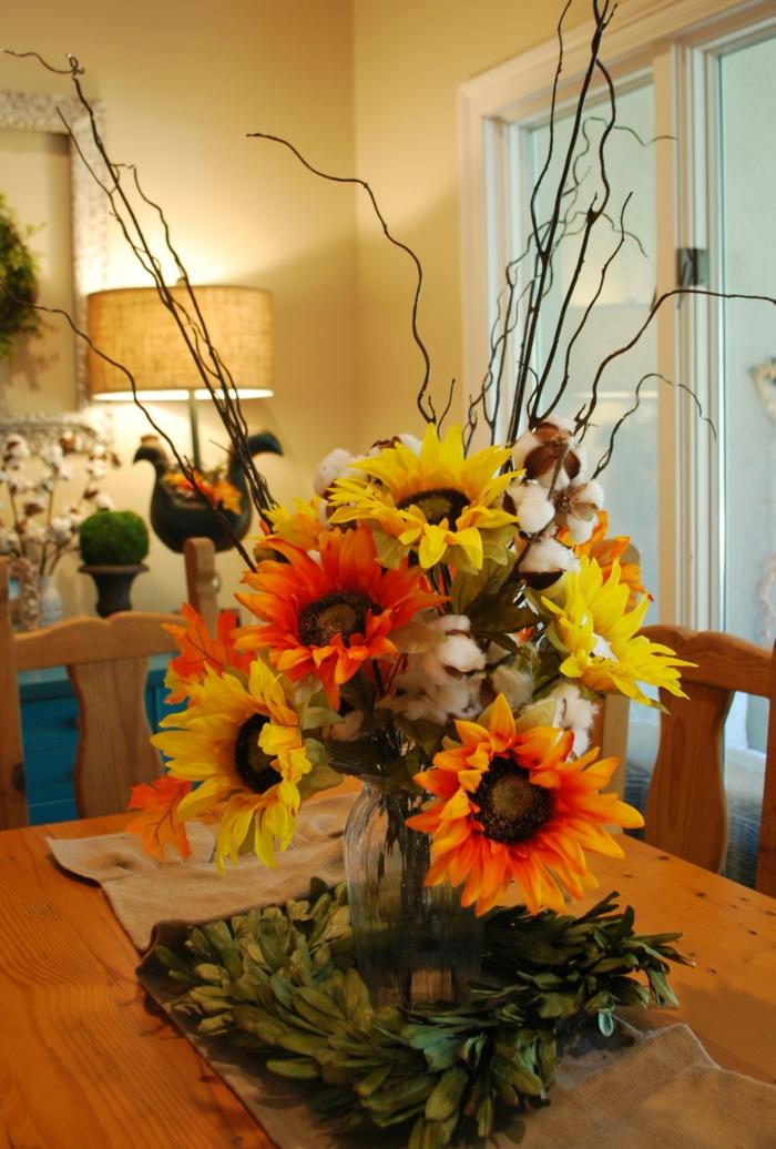 1001+ Ideen für Tischdeko  wie Sie den Tisch mit Blumen