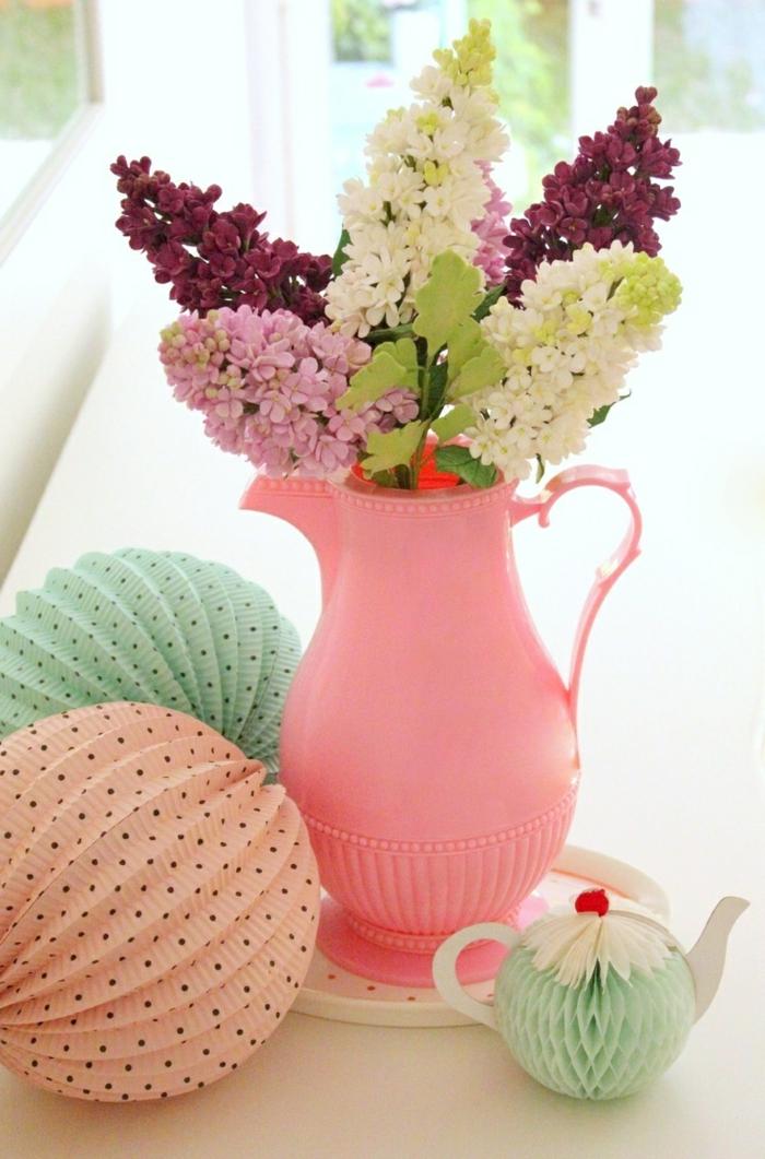 dekoideen tisch pastellfarben