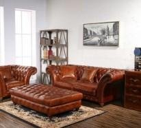 Chesterfield wohnzimmer  15 stilvolle Chesterfield Sessel für den gehobenen Geschmack