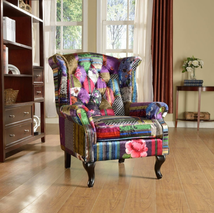 chesterfield sessel patchwork stoff anna scroll lovesofas.co.uk