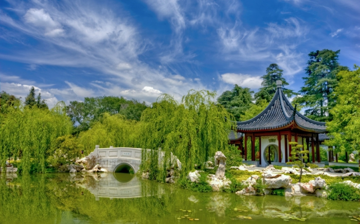 chinesischer garten brucke – usblife, Hause und garten