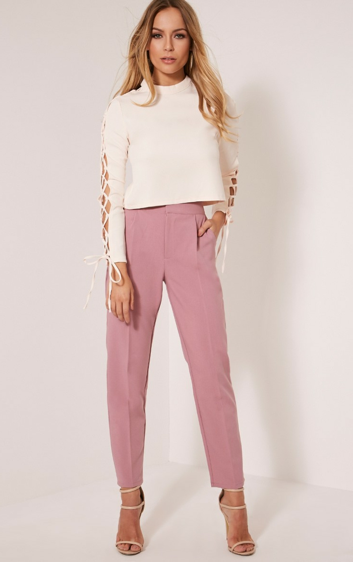 outfit weiße bluse