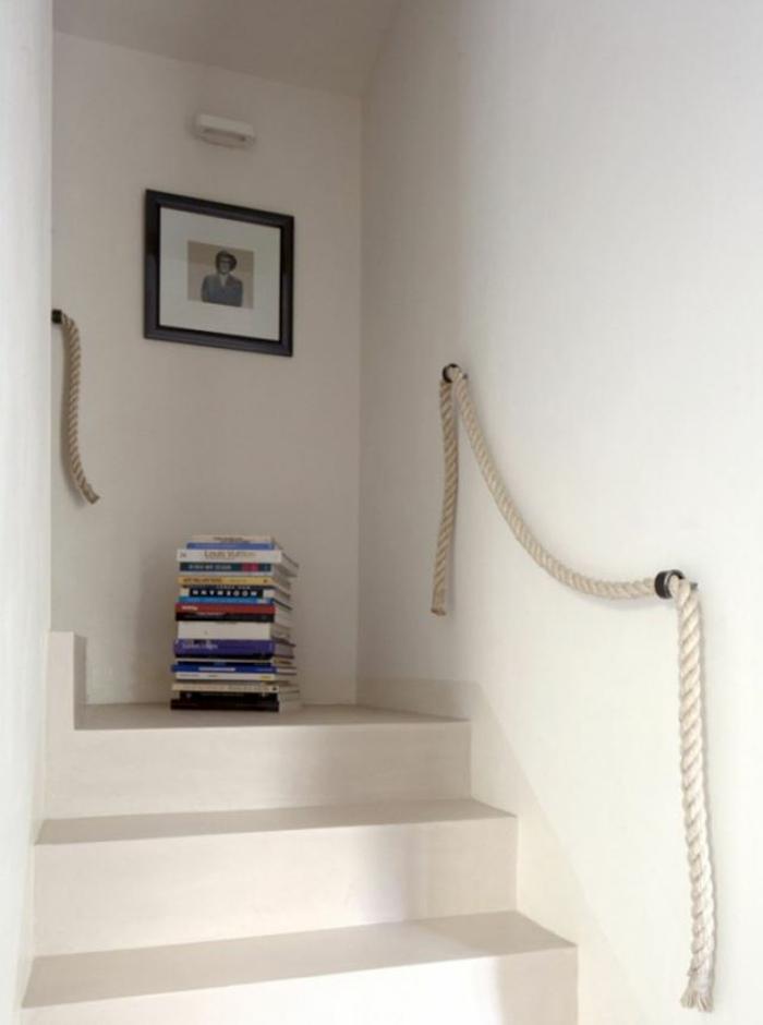 50 diy deko ideen und einrichtungsbeispiele mit und aus seil. Black Bedroom Furniture Sets. Home Design Ideas