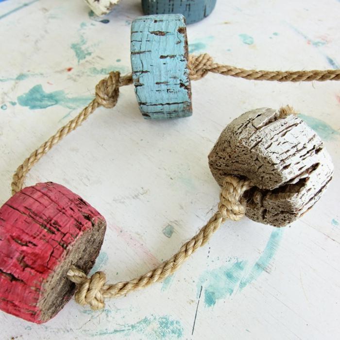 dekoideen einrichtungsbeispile seil dekoration geländer