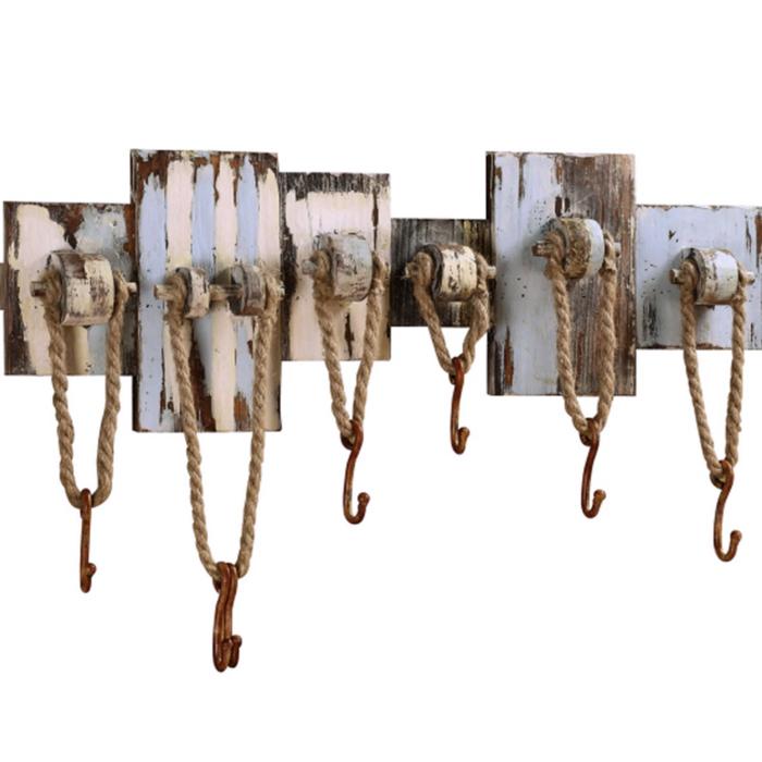 dekoideen einrichtungsbeispile seil dekoration rustikale garderobe