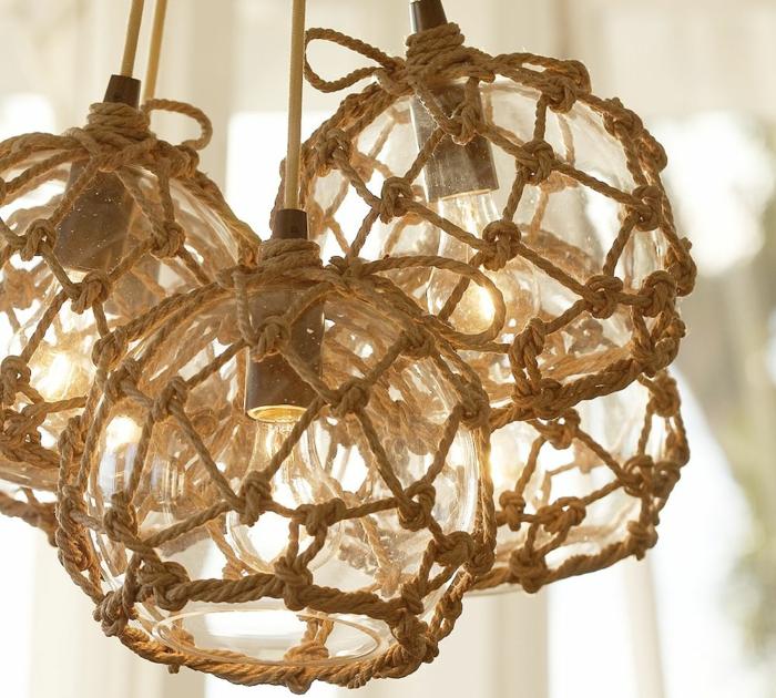 einrichtungsbeispiele dekoideen seil dekoration seemänisch licht
