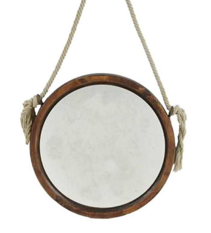 einrichtungsbeispiele dekoideen seil dekoration tiopf spiegel