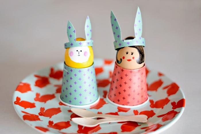 diy ideen basteln mit kindern ostern papierbecher