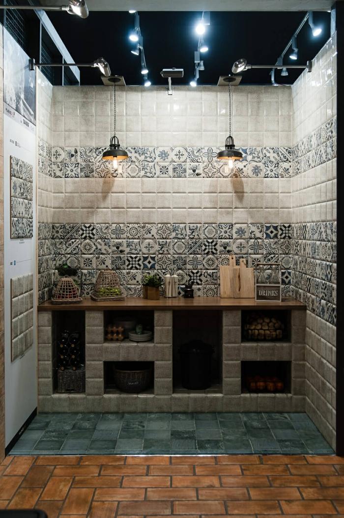 innendesign einrichtungsbeispiele wandgestaltung mozaik