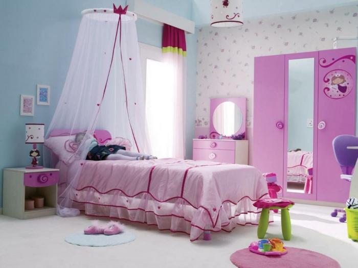 einrichtungsideen kinderzimmer rosa mädchenzimmer wandtapete
