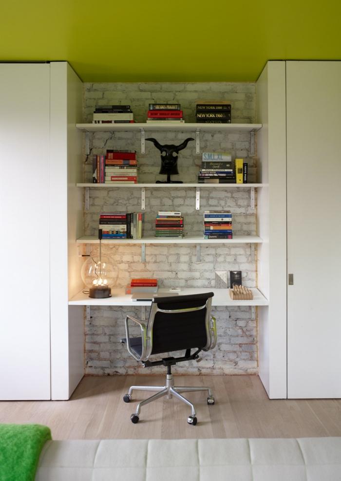 einzimmerwohnung einrichten loftwohnung home office bürostuhl