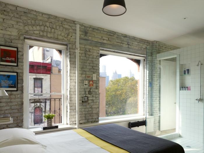 kleines schlafzimmer in weiss ~ kreative deko-ideen und ... - Einzimmerwohnung Wohnideen