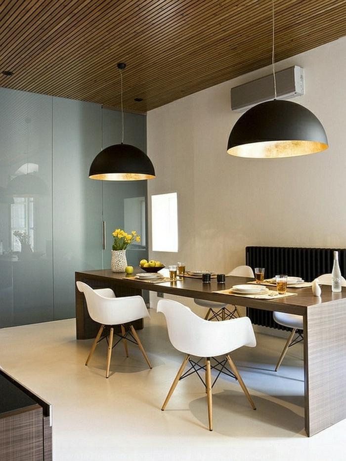 esszimmermöbel cooler esstisch stühle skandinavischer stil zimmerdecke