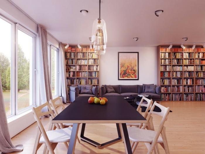 esszimmermöbel schwarzer esszimmertisch wohnzimmer