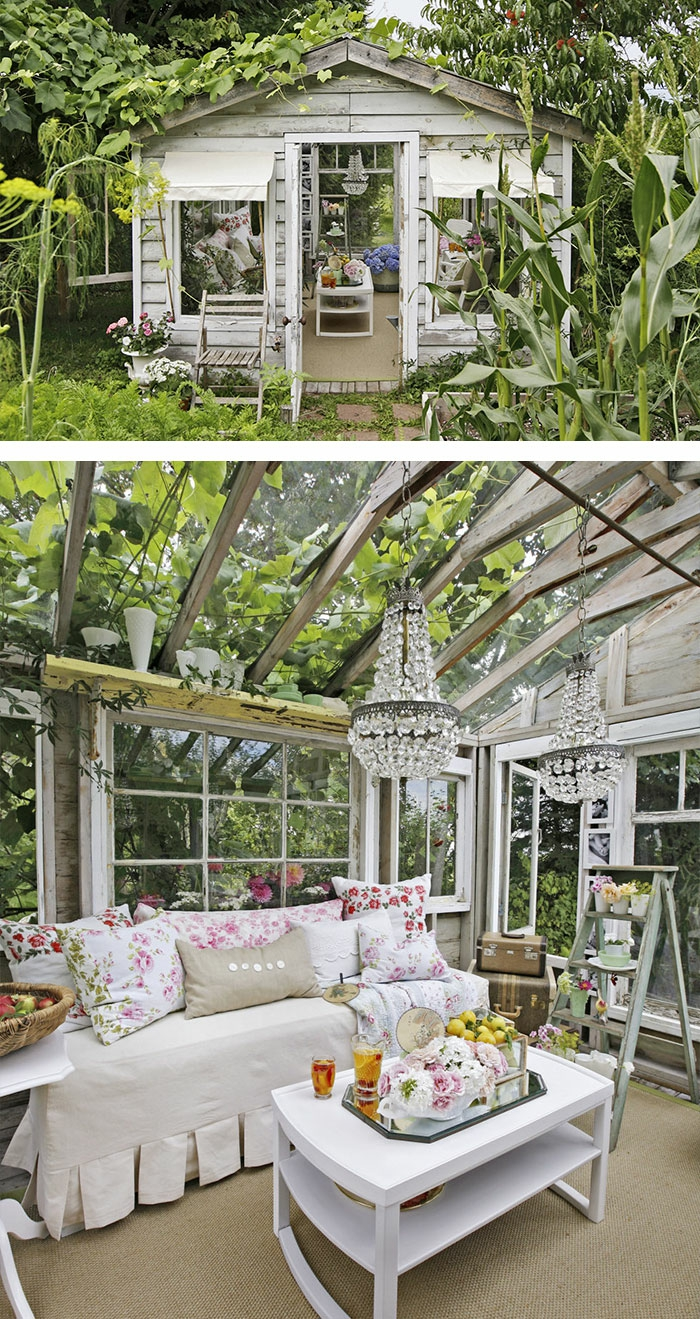 gartenhaus inspiration 23 originelle ideen f r ihre ruhe oase im garten. Black Bedroom Furniture Sets. Home Design Ideas